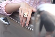 French Bulldog Ring Cream by GOODAFTERNINE on Etsy, $54.00