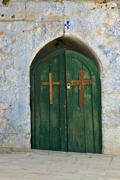 Beautiful Crosses on a Beautiful Door.... For some reason I like the idea of this photo for a wall mural.