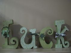 """""""Luck"""" Wood Letters"""