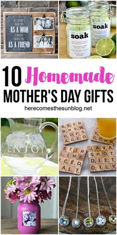 These homemade Mother's Day gift ideas are so fun and easy to make! These homemade Mother's Day gift ideas are so fun and easy to make! Easy Diy Mother's Day Gifts, Diy Mother's Day Crafts, Homemade Mothers Day Gifts, Diy Gifts For Kids, Mother's Day Diy, Kids Crafts, Diy Gifts For Friends, Grandmas Mothers Day Gifts, Mothers Day Crafts For Kids