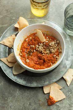 Roasted Red Pepper and Walnut Dip (Paleo, Vegan)