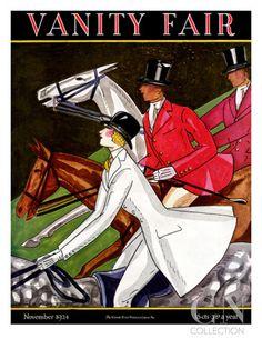 Vanity Fair Cover - November 1924 Poster Print by Joseph B. Platt at the Condé Nast Collection