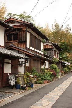 Saga Toriimoto - Kyoto, Japan {beautiful, traditional Japanese street in Kyoto}