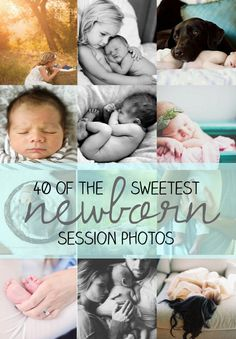 40 sweet newborn session photos: inspiration for newborn photography. Lifestyle newborn photography.