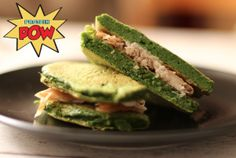 Low-Carb Spinach Protein Bread: Ingredients: 2.5 cups fresh green spinach, 3/4 cups liquid egg whites, 3/8 cups pea protein powder [you could try a vegetable other than spinach, like cauliflower -- Ellen]