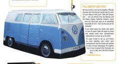 Very cool VW kombi van camping tent!