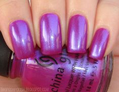 opi nail polish My absolute FAVORITE color of nail polish. Im on my bottle :-) CHINA GLAZE - Reggae to riches. Cute Nail Polish, Purple Nail Polish, Nail Polish Colors, Cute Nails, My Nails, Nails Inc, Colorful Nail Designs, Beautiful Nail Designs, Magenta Nails