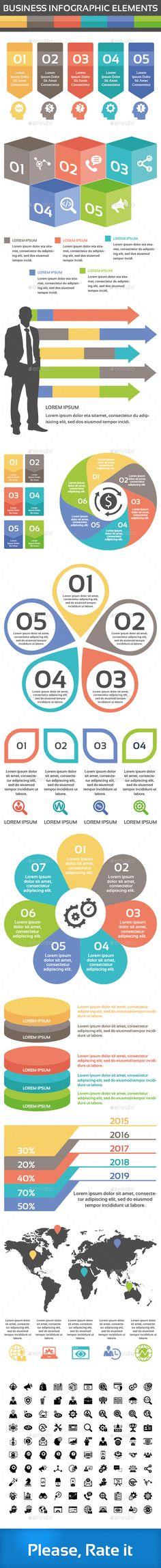 Business Infographic Elements - Infographics Timeline Infographic, Free Infographic, Infographic Templates, Infographics Design, Visual Resume, Diagram Chart, Line Graphs, Ai Illustrator, Data Visualization
