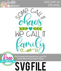 #familysvg #somecallitchaossvg #familyquotesvg #wecallitfamilysvg #silhouette #cricutexplore. So many possibilities of DIY projects with this Free Some Call it Chaos We Call it Family SVG File. Make signs, pillows, t-shirts and more for with this Free SVG file. Free Ai, SVG, PNG, EPS & DXF download. Free Free Some Call it Chaos We Call it Family SVG files works with Cricut, Cameo Silhouette and other major cutting machines.