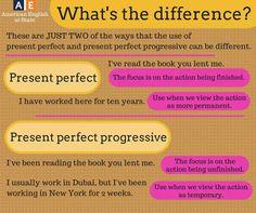 Present perfect vs perfect progressive