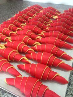 Croissant BiColores Rose Garni Framboise