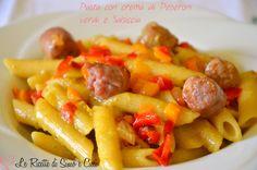 Pasta+con+crema+di+Peperoni+verdi+e+Salsiccia