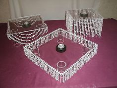 Discover thousands of images about Cake Stand 3 PC Set Lighted Acrylic Crystal Bling Wedding B Day Diy Wedding Cake, Wedding Cake Stands, Baby Wedding, Bling Wedding, Wedding Cupcakes, Dream Wedding, Wedding Decorations, Wedding Day, Parties Decorations