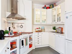 Having Fun Cooking in Bewitching Scandinavian Kitchen Designs : The White Detail Dominates The Kitchen Interior