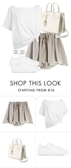 """""""Untitled #2517"""" by theeuropeancloset ❤ liked on Polyvore featuring Red Herring, Yves Saint Laurent, adidas Originals and Chanel"""