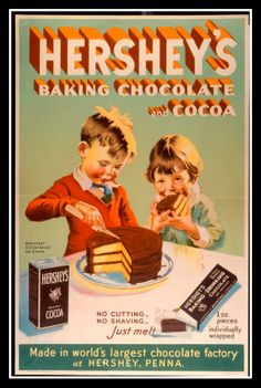 Hershey's Cocoa Vintage Advertisement - Best Hot Cocoa recipe