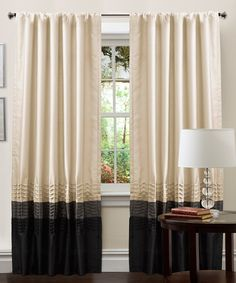 Curtains for the living room: Lush Decor Mia Window Panel Pair - x Decor, Elegant Curtains, Home, Panel Curtains, Traditional Style Decor, Rod Pocket Curtain Panels, Curtains, Lush Decor, Paneling
