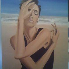 On the beach. Oil on canvas. Oil On Canvas, Paintings, Portrait, Beach, Paint, Headshot Photography, The Beach, Painting Art, Portrait Paintings