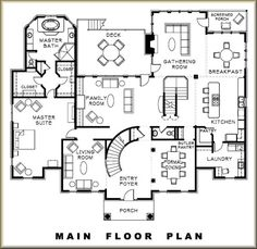 Main Floor - 6393 Chartwell Court, Brentwood, TN Maine, Photo Galleries, Floor Plans, Flooring, How To Plan, Wood Flooring, Floor, Floor Plan Drawing
