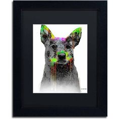 Marlene Watson Cattle Dog Matted Framed Art, Size: 11 x 14, Multicolor