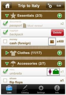 packing list for vacation app