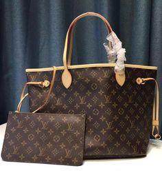 97ed0f830b1b Louis Vuitton Monogram Canvas Neverfull MM M40995. View more LV monogram  bags at http