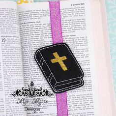 Bible Bookmark book band ITH Embroidery design file