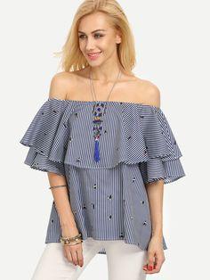 Donna off spalla Blocco BARDOT Stripe Knit trama grossa maglione Oversize Top