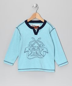 Look what I found on #zulily! Blue Brick Thermal Rock 'n' Roll Tee - Toddler & Boys by Kapital K #zulilyfinds. $10.99