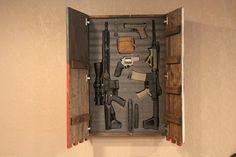 Weapons Guns, Guns And Ammo, Hidden Gun Cabinets, Liberty Home, Hidden Gun Storage, Gun Rooms, Gun Cases, Home Defense, Hand Guns
