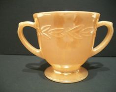 Vintage Fire King Lusterware Sugar Bowl, Vintage Housewares, Glass Sugar Bowl, Home and Living,