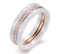 rose gold filled charm bling bling crystal triple rings for ...