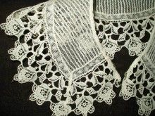 Vintage 1920s 1930s Lace Pin Tucks Dress Collar - The Gatherings Antique Vintage