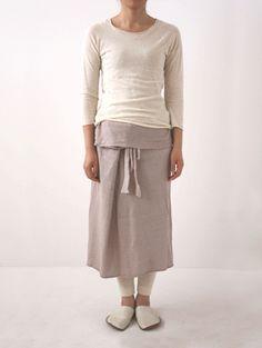 botanical dye sarong skirt