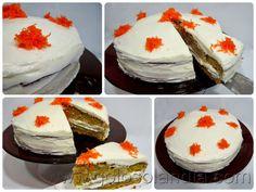 Pastel de zanahoria fácil receta casera, paso a paso.  http://www.golosolandia.com/2014/07/pastel-de-zanahoria.html