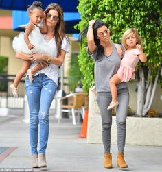 Single mother: Kourtney is turning to her friends for help after splitting with the father of her children Scott