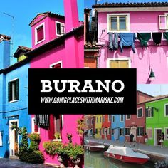 Burano an island in Venice Italy, is known for its characteristic colorful buildings Oh The Places You'll Go, Places To Travel, Travel Destinations, Venice Travel, Italy Travel, Passport Travel, Colourful Buildings, Ultimate Travel, Venice Italy