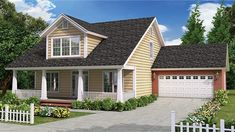 Home Plan HOMEPW75055 - 1871 Square Foot, 4 Bedroom 3 Bathroom Craftsman Home with 2 Garage Bays | Homeplans.com
