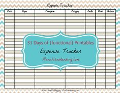 13 best printable expense tracker images on pinterest expense