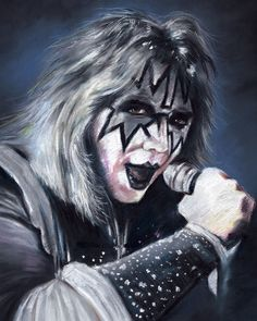 """The Kiss Ace Frehley Tlač plagátu Kresba Heavy Metal Group veľkosť 16 """"X20""""   eBay"""