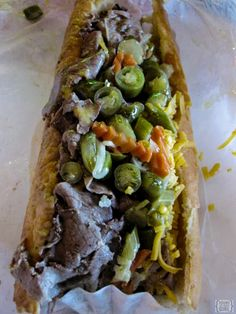 Yum! An Italian Beef sandwich from Portillo's in Chicago | www.rtwgirl ...