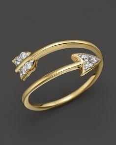600.00$  Watch now - http://viefx.justgood.pw/vig/item.php?t=66lpc266970 - KC Designs Diamond Arrow Ring in 14K yellow Gold, .09 ct. t.w.