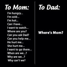 Mom, always and for every trouble/problem : MOM !!