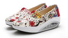 {D&H}New  Casual Women Shoes Fashion Platform Shoes Woman Flats Air Cushion Soles Ladies Shoes Women's Vulcanize Shoes