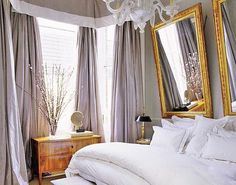 Grey/lavender curtains. Paint color I was talking about for Molly's room