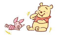 Piglet n Pooh Winnie The Pooh Drawing, Piglet Winnie The Pooh, Winnie The Pooh Friends, Pooh Bear, Tigger, Cute Disney Drawings, Cute Cartoon Drawings, Disney Fan Art, Disney Love