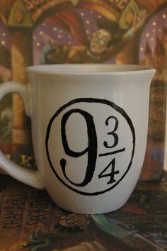 Platform 9 3/4 Coffee Mug - Harry Potter Mug - Hogwarts Mug - Nerdy - Geeky on Etsy, $15.00