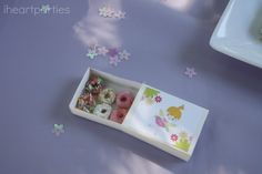 Tiny donuts at a Fairy Party #fairy #partyfood