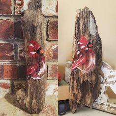 Two #cardinal orders completed today! #driftwood #rustic #reclaimedwood #painting #birds #handmadeisbetter #taterbuggin #handmade #art #decor #buyhandmade #memphis #tennessee #choose901 #homedecor #thelovelyhandmade #craftcurate #ilovememphis #creativelifehappylife #creatorcommunity #supportsmallbusiness #shopsmall #lovemymakers #shopsmalllove #handmadehomegoods