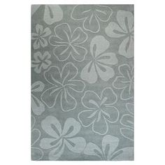 Hand-loomed wool rug with floral motif.  Product: RugConstruction Material: 100% WoolColor: Light blueNote: Please be aware that actual colors may vary from those shown on your screen. Accent rugs may also not show the entire pattern that the corresponding area rugs have.Cleaning and Care: Vacuum regularly. Spot clean.